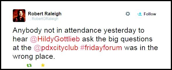 City Club Tweet