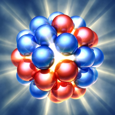 9696584 - nuclear fission , 3d illustration