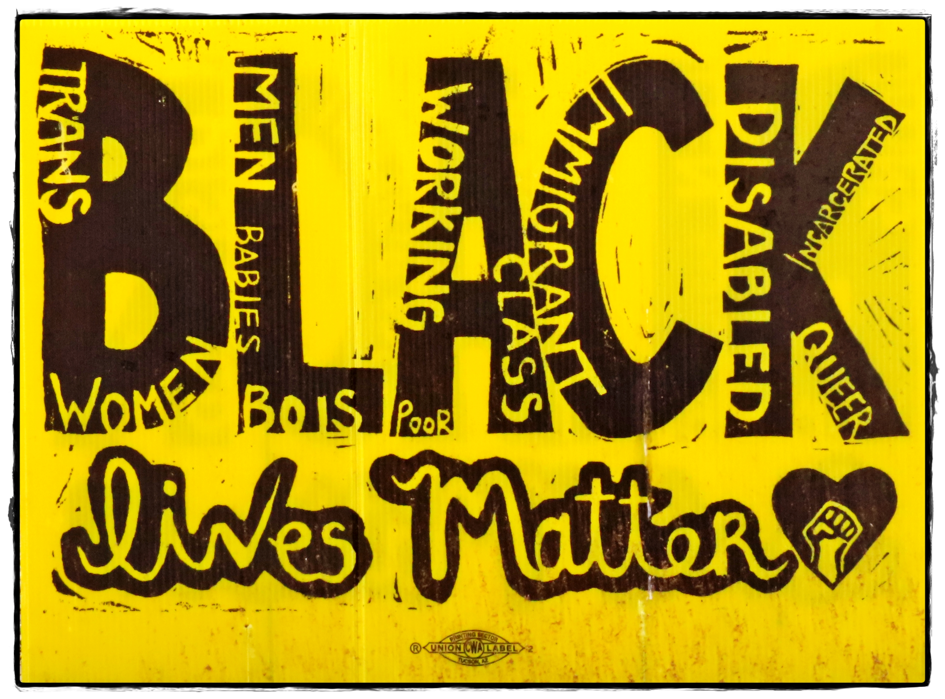Inclusive Black Lives Matter Yard Sign